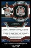 2015 Topps Commemorative Patch Pins #CPP04
