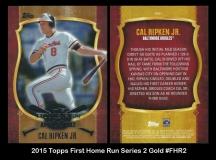 2015 Topps First Home Run Series 2 Gold #FHR2