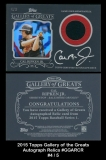 2015 Topps Gallery of Greats Autograph Relics #GGARCR