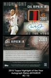 2015 Topps Highlight of the Year Autographs Relics #HYARCR