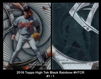 2016 Topps High Tek Black Rainbow #HTCR
