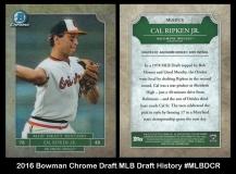 2016 Bowman Chrome Draft MLB Draft History #MLBDCR