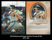 2016 Diamond Kings Artist's Proofs #128