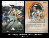 2016 Diamond Kings Artist's Proofs Silver #128