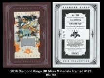 2016 Diamond Kings DK Minis Materials Framed #128