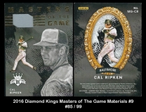 2016 Diamond Kings Masters of the Game Materials #9