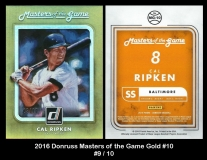 2016 Donruss Masters of the Game Gold #10