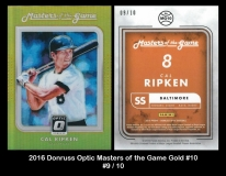 2016 Donruss Optic Masters of the Game Gold #10