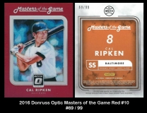 2016 Donruss Optic Masters of the Game Red #10