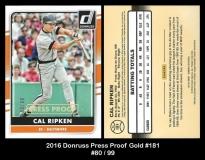 2016 Donruss Press Proof Gold #181