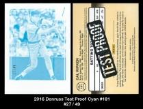 2016 Donruss Test Proof Cyan #181