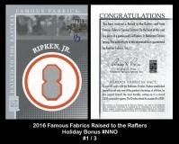 2016 Famous Fabrics Raised to the Rafters Holiday Bonus #NNO