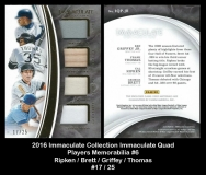 2016 Immaculate Collection Immaculate Quad Players Memorabilia #6