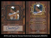 2016 Leaf Sports Heroes Enshrined Autographs #EACRJ
