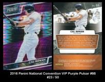 2016 Panini National Convention VIP Purple Pulsar #66