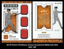 2016 Panini Pantheon Arena Acclaimed Materials #24