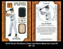 2016 Panini Pantheon Class and Rank Materials Gold #2