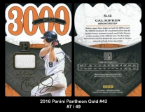 2016 Panini Pantheon Gold #43
