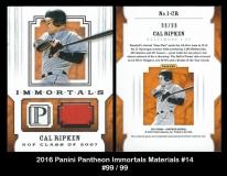 2016 Panini Pantheon Immortals Materials #14