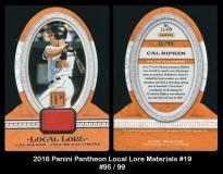 2016 Panini Pantheon Local Lore Materials #19