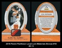 2016 Panini Pantheon Local Lore Materials Bronze #19