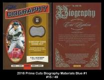 2016 Prime Cuts Biography Materials Blue #1