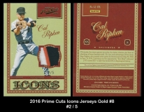 2016 Prime Cuts Icons Jerseys Gold #8