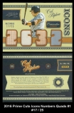 2016 Prime Cuts Icons Numbers Quads #1