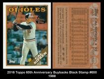 2016 Topps 65th Anniversary Buyback Black Stamp #650