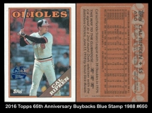 2016 Topps 65th Anniversary Buybacks Blue Stamp 1988 #650