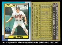 2016 Topps 65th Anniversary Buybacks Blue Stamp 1990 #570