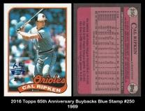 2016 Topps 65th Anniversary Buybacks Blue Stamp #250