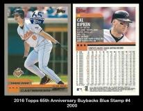 2016 Topps 65th Anniversary Buybacks Blue Stamp #4