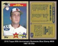 2016 Topps 65th Anniversary Buybacks Blue Stamp #609