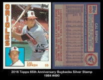 2016 Topps 65th Anniversary Buybacks Silver Stamp 1984 #490