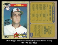 2016 Topps 65th Anniversary Buybacks Silver Stamp 1987 All Star #609