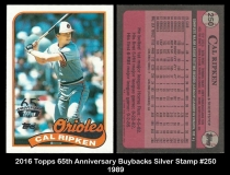 2016 Topps 65th Anniversary Buybacks Silver Stamp #250