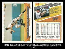 2016 Topps 65th Anniversary Buybacks Silver Stamp #300