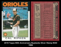 2016 Topps 65th Anniversary Buybacks Silver Stamp #340