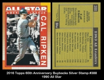 2016 Topps 65th Anniversary Buybacks Silver Stamp #388