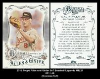 2016 Topps Allen and Ginter 5x7 Baseball Legends #BL21