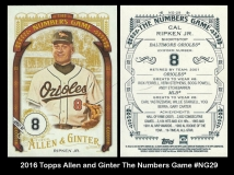 2016 Topps Allen and Ginter The Numbers Game #NG29
