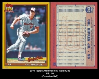 2016 Topps Archives 5x7 Gold #243