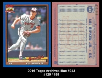 2016 Topps Archives Blue #243