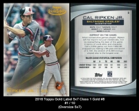 2016 Topps Gold Label 5x7 Class 1 Gold #8