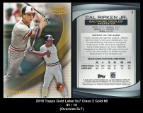2016 Topps Gold Label 5x7 Class 2 Gold #8