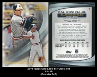 2016 Topps Gold Label 5x7 Class 3 #8