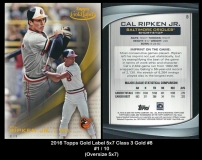 2016 Topps Gold Label 5x7 Class 3 Gold #8