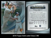 2016 Topps Gold Label Class 2 #8