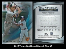2016 Topps Gold Label Class 2 Blue #8